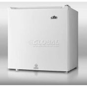 """Summit S19LWH - Refrigerator-Freezer, Compact, Value Priced """"Cube"""" Sized, Lock, White, 20-1/4""""H"""