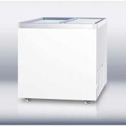 "Summit SCF942DT - Full-Sized Commercial Storage Freezer W/Sliding Glass Lid, 9 Cu. Ft., 36"" Wide"