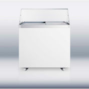 "Summit SCF942DTPDC - Dipping Cabinet W/Polycarbonate Sneezeguard, 9 Cu. Ft., 36"" Wide"