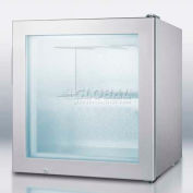 Summit SCFU386CSSVK - Compact Commercial Vodka Chiller, Self-Closing Glass Door, S/S Wrapped Cabinet