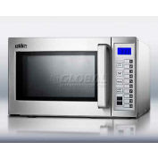 Summit SCM1000SS - Microwave, Stainless Steel, Digital Controls, 1000 Watts, 0.9 Capacity