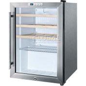 Summit SCR312LCSSWC - Commercial Countertop Wine Cellar, S/S Cabinet, Glass Door, Front Lock