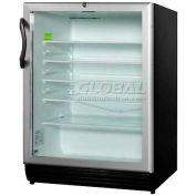 Summit SCR600BLADA - ADA Comp Glass Door All-Refrigerator, Black, Front Lock
