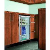 Summit SCR600BLBISHWO - Commercial Built-In Beverage Refrigerator, Wood Shelves, Black