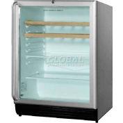 Summit SCR600BLCSSRCADA - ADA Comp Glass Door All-Refrigerator For Built-In Lock, 2 Wood Shelves