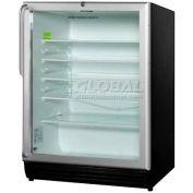 Summit SCR600BLSHADA - ADA Comp Glass Door All-Refrigerator, Front Lock, Full-Length S/S Handle, BK