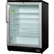 Summit SCR600BLTBPUB - Commercial Glass Door Refrigerator For Red Wine, Ales,, Black