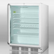 Summit SCR600LSHADA - ADA Comp Glass Door All-Refrigerator, Front Lock, Full-Length S/S Handle, WH