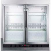 Summit SCR7012D - Counter Height Beverage Merchandiser, Two Glass Swing Doors