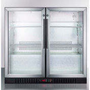 Summit-Counter Height Beverage Merchandiser, Two Glass Swing Doors