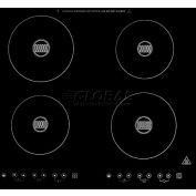 Summit SINC424220 - Built-In 220 Volt Induction Cooktop, 4 Zones, BK Ceran™ Smooth-Top Finish