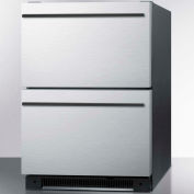 Summit SP5DS2DSSHH - Two Drawer All-Refrigerator, Built-In Use, Stainless Steel