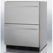 Summit SP6DS2D7ADA - ADA Comp Two-Drawer Refrigerator, Stainless Steel For Built-In Use