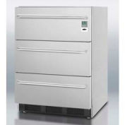 Summit SP6DSSTB7MEDADA Commercially Listed ADA Compliant 3-Drawer Stainless Steel Refrigerator