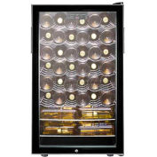 "Summit SWC525L - 20""W Freestanding Wine Cellar, Lock, Digital Thermostat"