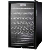 "Summit SWC525L7HH - 20""W Freestanding Wine Cellar, Lock, Digital Thermostat, Horizontal Handle"
