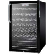 "Summit SWC525L7TBADA - ADA Comp 20""W Freestanding Wine Cellar, Lock, Digital Thermostat"