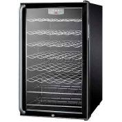 "Summit SWC525LBISH - 20""W Wine Cellar For Built-In Use,, Lock, Digital TSTAT, Full-Length"