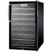 "Summit SWC525LTBADA - ADA Comp 20""W Freestanding Wine Cellar, Lock, Digital TSTAT,"