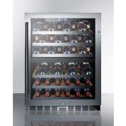 Summit SWC532LBIST - Built-In Wine Cellar, Dual Zone W/Locks, Digital Thermostat, Black