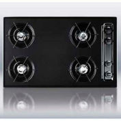 "Summit TNL053 - 30""W Cooktop, Four Burners, Gas Spark Ignition, Black"