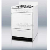 "Summit WNM1107 - White Gas Range, Slim 20""W, Electronic Ignition"
