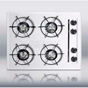 "Summit WNL03P - 24""W Cooktop, Four Burners, Battery Start Ignition, WhiteWTL03P"