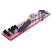 """14-94100101 Magnetic Stick tool holder, Overall dimensions 10 7/8"""" x 2 3/16"""" x 3/8"""", red"""