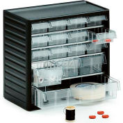 "Treston Small Visible Drawer Cabinet w/16 Clear Drawers, 12-3/16""W x 7-1/16""D x 11-7/16""H"