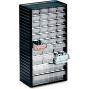 "Treston Visible Storage Drawer Cabinet w/24 Mixed Clear Drawers, 12-3/16""W x 7-1/16""D x 21-5/8""H"