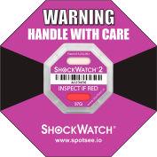 SpotSee™ ShockWatch® 2 Serialized Framed Impact Indicators, 37G Range, Purple, 50/Box