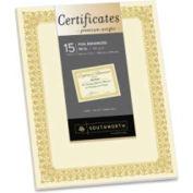 "Southworth Premium 8-1/2"" x 11"" Certificate with Fleur Border Ivory"