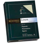 "Southworth® Linen Business Paper, 8-1/2"" x 11"", 24 lb, Ivory, 500 Sheets/Pack"