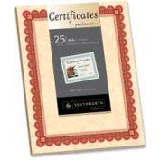 """Southworth® Parchment Certificates, 8-1/2"""" x 25"""", Copper, 25 Sheets/Pack"""