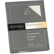 "Southworth® Parchment Specialty Paper, 8-1/2"" x 11"", 24 lb, Ivory, 100 Sheets/Pack"