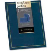 """Southworth® Certificate Jackets, 9-1/2"""" x 12"""", Navy Blue, 5/Pack"""