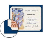 "Southworth® Linen Certificate Holder, 9-1/2"" x 12"", Navy Blue, 10/Pack"