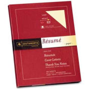 "Southworth® Resume Paper, 8-1/2"" x 11"", 32 lb, Wove, Ivory, 100 Sheets/Pack"