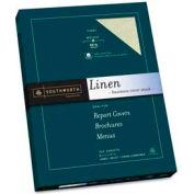 "Southworth® Linen Cover Stock Paper, 8-1/2"" x 11"", 65 lb, Linen, Ivory, 100 Sheets/Pack"