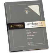 """Southworth® Parchment Cover Stock Paper, 8-1/2"""" x 11"""", 65 lb, Parchment, Ivory, 100 Sheets/Pack"""