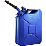 Wavian Jerry Can w/Spout & Spout Adapter, Blue, 20 Liter/5 Gallon Capacity - 3012
