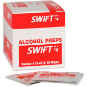 North® by Honeywell 154818-H5, Alcohol Wipes, 50 Per Box