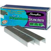 "Swingline® S.F.® 3 Premium Staples, 1/4"" Leg Length, 105 Per Strip, 5000/Box"