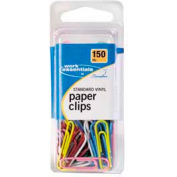 Swingline® Standard Vinyl-Coated Paper Clips, Assorted, 150/Pack