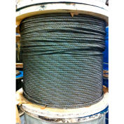 """Southern Wire® 250' 1/2"""" Dia. 6x19 Improved Plow Steel Bright Wire Rope"""