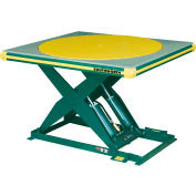 Southworth® Electric Hydraulic Scissor Lift Table with Turntable 4439323 48 x 48 3500 Lb. Cap.