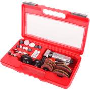 "Sunex Tools SX264K,1/4"" Mini Right Angle Air Die Grinder Kit,22 Piece,20000 RPM,4 CFM,1/4"" NPT Inlet"