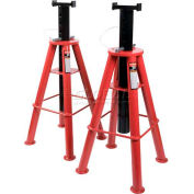 Sunex® Tools 1410 10 Ton High Height Pin Type Jack Stands, Steel Base, Pair