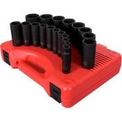 "Sunex Tools 2641 19 PC. 1/2"" Drive 3/8""-1-1/2"" SAE Deep Impact Socket Set"