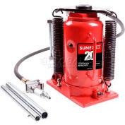 Sunex® 20 Ton Air Hydraulic Bottle Jack, 4920CAH, Ductile Iron Base, Electrostatic Paint